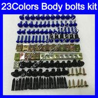 yamaha r6 cuerpo completo al por mayor-Kit completo de tornillos de carenado Para YAMAHA R6 YZFR6 06 07 YZF-R6 06-07 YZF600 YZF 600 YZF R6 2006 2007 Tuercas de cuerpo tornillos tuercas kit de tornillos 25Colores