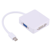 cabo de áudio mini hdmi venda por atacado-VBESTLIFE cabo de áudio para MacBook Pro 3 in1 Thunderbolt Mini DP Mini DisplayPort para HDMI DVI VGA cabo adaptador
