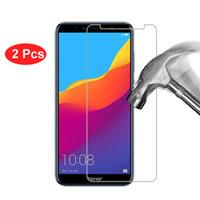 huawei telefone p6 großhandel-2 Stücke Gehärtetem Glas Für Huawei Honor 7A Telefon Displayschutzfolie Schutzfolie Für Huawei Ehre 7A Pro Prime Glas Film