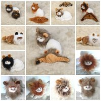 Wholesale lion winter hat - Universal Pet Headgear Funny Lion Dogs Cats Mane Wig Cartoon Lovely Non Toxic Puppy Head Hats Hot Sale 13 5bb B