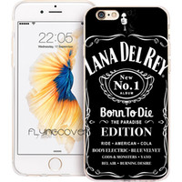 Wholesale Iphone 4s Clear Silicone Case - Coque Black Lana Del Rey Clear Soft TPU Silicone Phone Cover for iPhone X 7 8 Plus 5S 5 SE 6 6S Plus 5C 4S 4 iPod Touch 6 5 Cases.