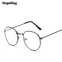 9227305414f3 Classic Vintage Optical Glasses Frame Men Metal Round Myopia Eyeglasses  Frames Women Fashion Decoration Spectacles