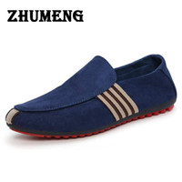 Wholesale men's slip canvas shoes online - 2017 Man Shoes Walking Ventilation Casual Male Men sapato masculino Red Bottom Canvas Slip Driving Moccasin Loafers Flat Shoes
