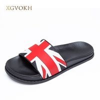 Wholesale flag ties - XGVOKH 36-44 plus slippers England UK flag Men's Sandals basic Beach slippers slip on Lightweight casual flat Men shoes Summer