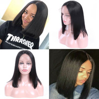 Wholesale Brazilian Straight Lace Frontal Wig Pre Plucked With Baby Hair Density Lace Front Human Hair Wigs quot quot