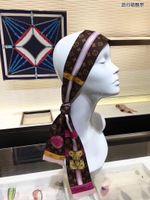 pequeñas bandas para la cabeza al por mayor-2019 Nuevo 8 * 120 diadema rectangular pequeña impresa de alta calidad con bufanda de seda de marca, cinta de corbata y accesorios, entrega gratuita.