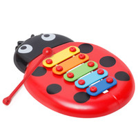 Wholesale harp instrument - Baby Learning Education Toys Ladybug Insect Hand Harp Noisemaker Children Percussion Instruments Guoqin Octave Intelligence Toy yy W
