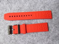 Wholesale part class - 22MM top grade Malaysia rubber made strap high class feel bracelet band with stainless steel buckle for B watch repair fix parts accessory