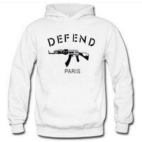 Wholesale Fashion House Clothes - Hot Style DEFEND PARIS Men Clothing High Quality Hoodie Sweatshirt Fashion House Jacket Print Long Sleeve Cotton Hip Hop