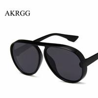 ingrosso occhiali da sole da donna oversize-Occhiali da sole stile pilota di grandi dimensioni oversize per occhiali da sole da donna uomini lenti trasparenti per le signore oculos UV400
