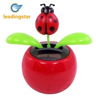 Wholesale Solar Plastic Flowers - Wholesale- LeadingStar Hot Selling Solar Powered Dancing Lady Bug Flower Great as Gift