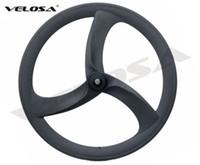 велотренажеры оптовых-2018 новый Tri говорил/3 говорил колесо углерода,56mm clincher для дороги/следа/Triathlon/колеса углерода велосипеда времени пробного