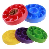 Wholesale Universal Bits - Puppy Slow Eating Bowl Round Plastic Pet Anti Choking Bowls Safety Bite Resistant Cat Dog Feeders Creative 9th B
