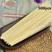 шампуры для вечеринок оптовых-500pcs Bamboo Wooden BBQ Skewers   Long Catering Grill Forks Party Disposable Sticks outdoor camping tools 30cm x 3.5mm