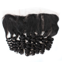 Wholesale Synthetic Peruvian Weave - 10A Remy Human Hair Loose Wave Lace Frontal 13x4 Ear to Ear Lace Frontal Brazilian Peruvian Malaysian Indian Hair Weaves Closure 8-20inch