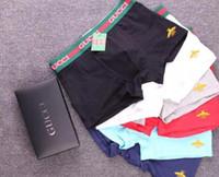 männliche unterwäsche boxer slips großhandel-Designer marke männer underwear mode sexy mens boxer underwear männer boxer kurze männliche cueca luxus männliche unterhose knickers