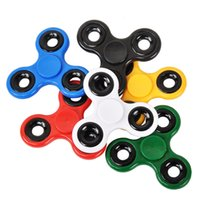 Wholesale hand spinner colorful for sale - Group buy Fidget Spinner Finger ABS Candy Colorful Hand Spinner Tri For Kids Autism Anxiety Stress Relief Toys Gift