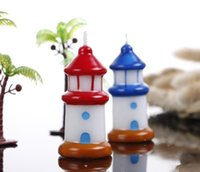 Wholesale pvc wedding candles resale online - 36pcs Mediterranean Lighthouse Candle For Wedding Baby Shower Birthday Souvenirs Gifts Favor Packaged with PVC Box