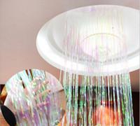 Wholesale Free Photography Backgrounds - Rainbow Color Metallic Foil Fringe Shiny Rain Curtains Decor Wedding Decor Photography Background Supplies Free Shipping