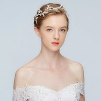 Wholesale bridal hair ribbons - New Silver Rhinestone Bridal Headband Tiara Fashion Wedding Hair Vine Jewelry Women Party Prom Hair Piece Accessories