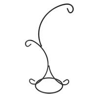 Wholesale Glass Vase Black - 2-Hook Plant Glass Vase Iron Hanging Stand Holder for Home Garden Decoration (Black)