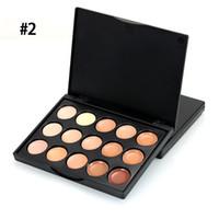камуфляжная глазная палитра оптовых-New  Professional 15 Colors Eye Shadow Contour Palette Facial Camouflage Make Up Eyeshadow Pallete Cosmetics 10*8*1CM