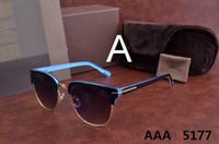 Wholesale ford tops - luxury top qualtiy New Fashion 5177 Tom Sunglasses For Man Woman Erika Eyewear ford Designer Brand Sun Glasses with original box TOT