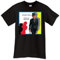 Wholesale billboard size for sale - Group buy New Leonard Cohen Top Singer Billboard Black T Shirt TShirt Tee Shirt Size S XL Cotton Loose Short Sleeve Mens Shirts