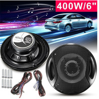 Wholesale speakers for motorcycles - 2pcs pair 6 Inch 400W Car Door SubWoofer Coaxial Audio Stereo Horn Speaker For Vehicle Motorcycle