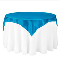 Wholesale Restaurant Tablecloths Online   45x145cm Satin Fabric Tablecloth  Table Cover Table Overlay Tableware Cover Party