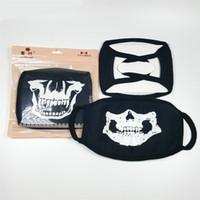 moda solunum maskeleri toptan satış-Terör Cadılar Bayramı Tema Solunum Floresan Kull Tasarım Moda Çok Stil Maskeleri Benzersiz Aydınlık Maske Yüksek Kalite 2 18ry Z