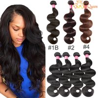 Wholesale brazilian human hair extensions bundle online - 8a Mink Brazillian Body Wave Hair Unprocessed Brazilian peruvian indian Human Hair Extensions Brazilian Body Wave Hair Weave Bundles