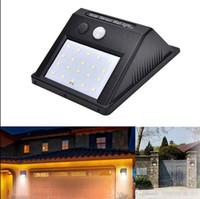 découper des gants achat en gros de-20 LED Solar Power Spot Light Capteur de mouvement Outdoor Garden Wall Light Lampe de sécurité Gouttière