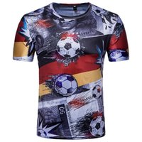 Wholesale germany t shirts for sale – custom 3D Printed Football T Shirts Tees Short Sleeve Men Germany World Cup T Shirts Plus Size M XL