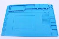 Wholesale bga repair - S-160 Heat Insulation Silicone Pad Desk Mat Maintenance Platform For BGA Soldering Repair Station With Magnetic Section New