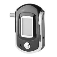 ingrosso visualizzatore lcd breathalyzer-Display LCD professionale Alcohol Tester Digital Alcohol Detector Alta sensibilità Etilometro Auto-Styling Drop Shipping