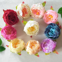 Wholesale peony decor for sale - High Quality Artificial Flowers Parcel Silk Peony Flower Head Wedding Bride Bouquet Headgear DIY Decoration Novetly Home Decor fr YY