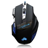 professionelle maustasten großhandel-Professionelle 5500 DPI Gaming Mouse 7 Tasten LED Optische USB Verdrahtete Mäuse für Pro Gamer Computer X3 Maus PUBG LOL