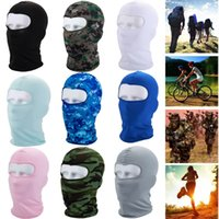 Wholesale tactical mask military - Unisex Sun UV Protection Breathable Outdoor Cycling Tactical Military Full Face Mask Balaclave Helmet