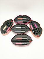Wholesale mouth set - Beauty lipstick Big mouth lip gloss + lip liner set makeup lipstick 5 colors 3pcs set with retail box