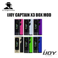 Wholesale Triple Batteries - Elektronik Sigara Original IJOY Captain X3 BOX Mod 324W Vaper Vape with 3PCS Triple 20700 Battery Match Captain X3 Subohm Tank 100% Original