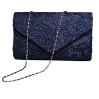 Wholesale Lace Wedding Clutches - Women Luxury Lace Floral Day Clutch Wedding Bride Party Bag Envelope Handbag Evening Bag Bolsas Mujer Purse Banquet Balestra Sac