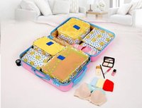 Wholesale Can Storage - 6PCs Set Travel Storage Bag Waterproof Suitcase can use Home storage Classification of clothing Travel essential