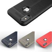 iphone 5s schock fälle großhandel-Robuste Rüstung tpu Fall für IPHONE XR XS XS MAX X 5 S 6 7 8 PLUS Galax S8 S9 S9 Plus Anti Shock Absorption Leder Litchi Muster 100pcs