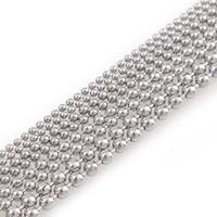 ingrosso catena in acciaio inossidabile-5 Metri In Acciaio Inox Perline Catena a Sfere Bulk Catena di Gioielli Dia 1.5mm 2mm 2.4mm 3mm Per Collane Creazione di Gioielli Forniture
