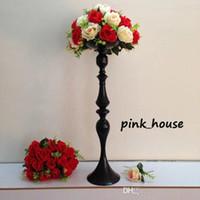 ingrosso supporto fiore nero-nuovo elegante Tall metallo colore nero basamento del fiore portacandele vaso di fiori per la decorazione centrotavola tavola di nozze