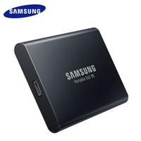 sert toptan satış-Samsung Orijinal T5 Taşınabilir SSD T5 500G 1 TB MU-PA500B / MU-PA1T0B Harici Katı Hal HD Sabit Disk USB 3.1 Ücretsiz Kargo