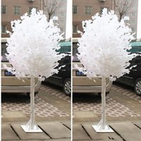 Wholesale pink area - 2018 Wedding Props White Ginkgo Road Cited Columns Holiday Wish Tree Party Welcome Area Decoration Supplies