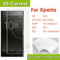 Wholesale Curve Body - 3D Glass For Sony Xperia XA XA1 X XP X-Compact XZ-Premium XA-Ultra XA1-Ultra XZ1 3D Curved Full Cover Tempered Glass Phone Screen Protector