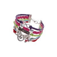 Wholesale Wholesale Vintage Owl Pendant - AFSHOR fashion Vintage leather rope Owl BEST FRIEND music pendant bracelets hand weave multilayer retro charm bracelets for womens men AF005